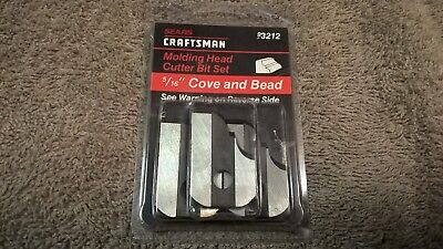 """NEW Craftsman 9-3212 Cutters, 5/16"""" Cove & Bead"""
