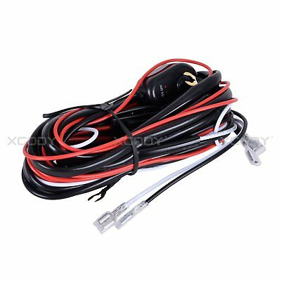 1PCS LED Light Bar Wiring Harness Kit 12V 40Amp Fuse Relay ON/OFF Switch Remote