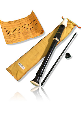 Aulos 205A Descant Soprano Recorder (Yellow Bag) School Recorder 3 piece New UK