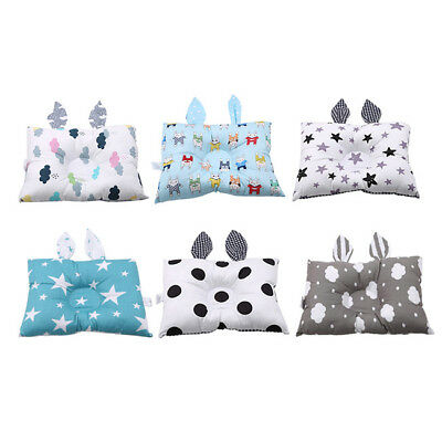 Baby Infant Newborn Pillow Prevent Flat Head Neck Support Cotton Anti Roll B