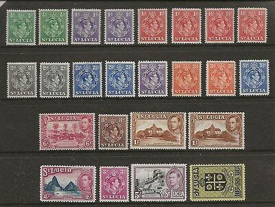 St Lucia  Sg 128/37  1938/48 Gvi Set To 10/-  All Perf Varieties  Fine Mint