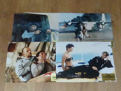 JAMES BOND - THE LIVING DAYLIGHT -SET OF 4 FRENCH LC 40 X30 cm/5.8 X 11.9 inches