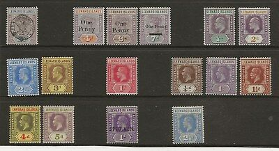 Leewards  Selection Of Mint 1897/1932 Between Sg 11 & Sg 85  Mint Mainly Fine