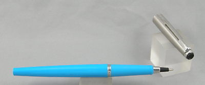 Parker Systemark Turquoise & Stainless Steel Rollerball Pen - 1981 - Made In USA