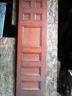 antique all wood door possable Butterwood.approx 28x98 8 raised panels