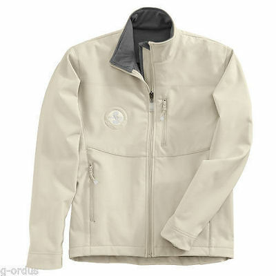 New Women's Ford Mustang Shelby Gt500 Soft Shell Beige Waterproof Small Jacket