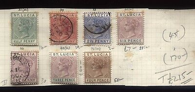 ST LUCIA Old Stamp lot on album page SG Cat £215-
