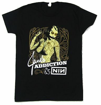 Jane's Addiction Nine Inch Nails Ninja Tour 2009 Black T Shirt New Official