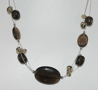 Smoky Quartz Gemstone Bead Necklace