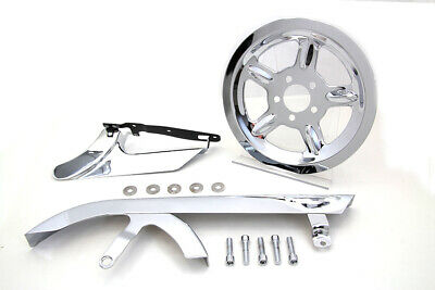 Chrome Belt Guard and Pulley Cover Kit fits Harley Davidson,V-Twin 27-0848