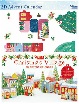 Traditional Folk Village Advent Calendar Caltime 335 x 473 mm - build a village