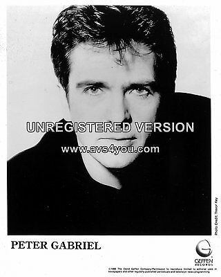"Peter Gabriel 10"" x 8"" Photograph no 4"