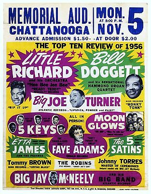 "Little Richard Chattanooga 16"" x 12"" Photo Repro Concert Poster"