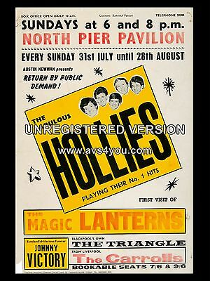"""The Hollies Blackpool Peir  16"""" x 12"""" Photo Repro Concert Poster"""