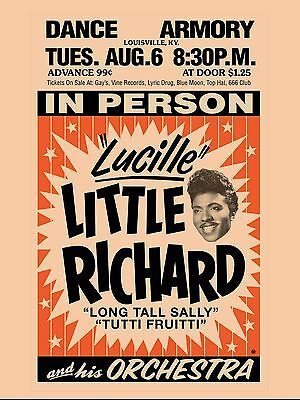 "Little Richard Armory 16"" x 12"" Photo Repro Concert Poster"