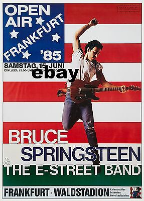 """Bruce Springsteen German 16"""" x 12"""" Photo Repro Concert Poster"""