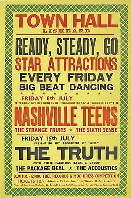 "Nashville Teens 1966 16"" x 12"" Photo Repro Concert Poster"