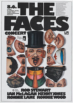 "The Faces Germany 16"" x 12"" Photo Repro Concert Poster"