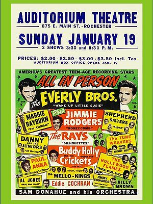 "Buddy Holly Rochester 16"" x 12"" Photo Repro Concert Poster"