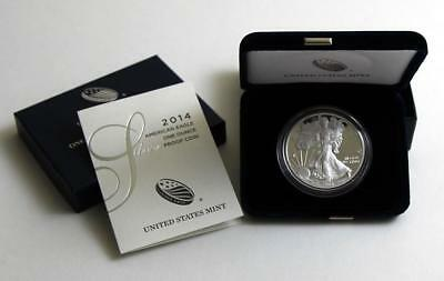 2014 W Silver Proof American Eagle Dollar US Mint $1 ASE Coin