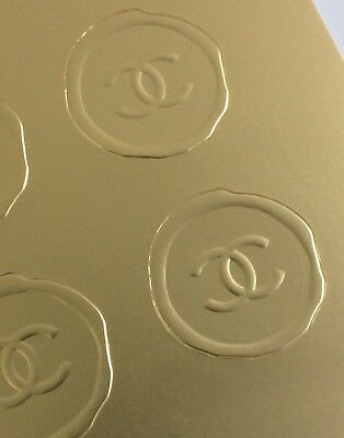12 X Chanel Official Gold Seals For Bags Or Wrapping Paper