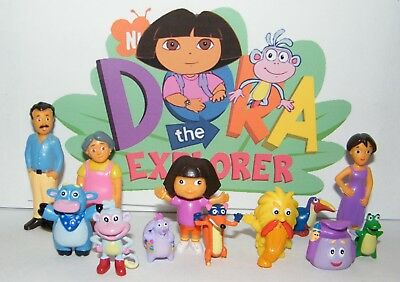 Nickelodeon Dora The Explorer Figure Set of 12 with Family and Friends