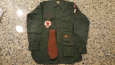 BSA, 1950's Explorer Uniform Shirt, Hat and Tie; Clarinda, Iowa; Camp Wakonda