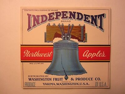 Wholesale Lot of 50 Old Vintage - INDEPENDENT Apple LABELS - LIBERTY BELL