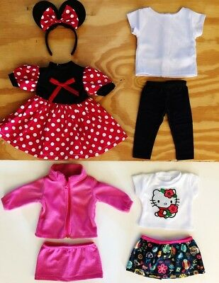 "Doll Clothes LOT Fits 18"" American Girl 4 Outfits New #33 C / Minnie Mouse, Coat"