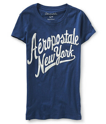 Aeropostale Graphic Women's Tee New York Small T-Shirt Navy + 25%off next order*