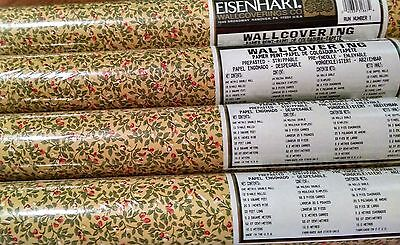 2 x EISENHART Wallcovering Wallpaper Yellow Floral 20058204 Double Roll 56 sq ft