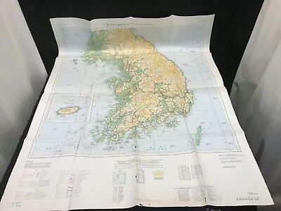 Road Map of Korea 1:700,000 Lower Korea Map  See Pictures of Damage #42