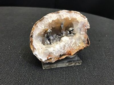 Small Crystal Geode With Tiny Miners Inside #23