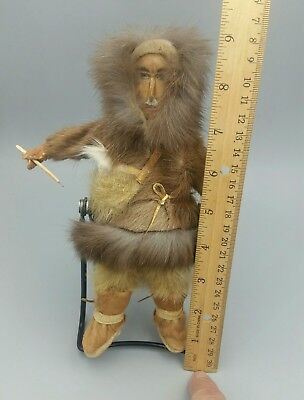 Antique Eskimo Male Doll, Alaska, from a Major Indian Art Collection