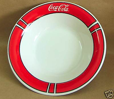 Gibson Red and white Coca Cola Coke Logo Big Soup Cereal Bowl FREE SH