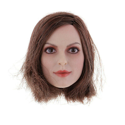 1/6 Scale Asian Female Head Hair Sculpt for 12'' Phicen Female Body Parts