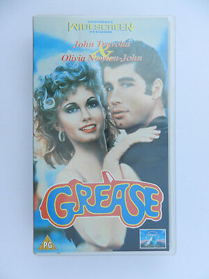VHS Video Kassette Grease John Travolta Olivia Newton John englisch
