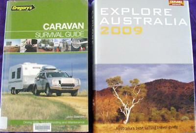 EXPLORE AUSTRALIA best selling travel guide + GREGORYS CARAVAN SURVIVAL GUIDE