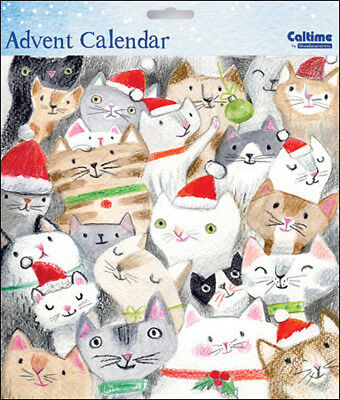 Traditional Meowy Christmas Cats Advent Calendar Caltime 230 x 230 mm