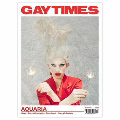 Gay Times Magazine August 2018: AQUARIA COVER INTERVIEW