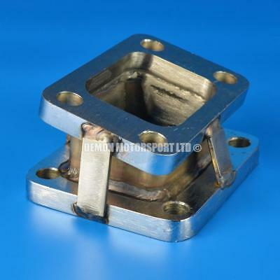 T3 to T4 Turbo to Manifold Adapter Flange Steel (Angled)