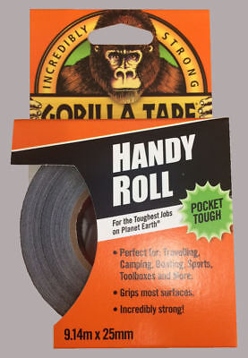 Gorilla Tape Handy Roll To Go 25mm x 9m Tape Strong Duct Tape Gorilla Glue