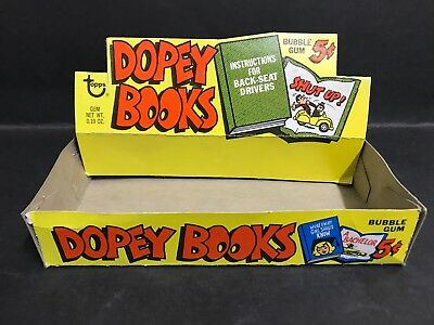 TRADING CARD RARE BOX DOPEY BOOKS, FROM 1960's BY TOPPS