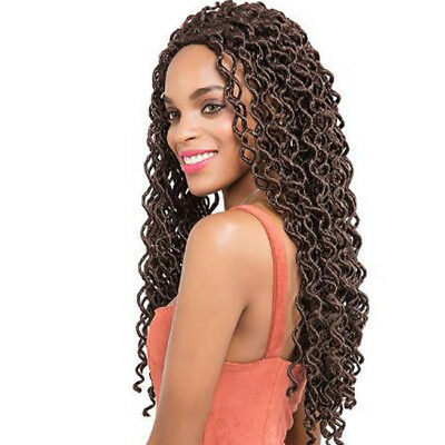 Faux Locs Curly Crochet Braids Synthetic Ombre Braiding Hair Extensions B