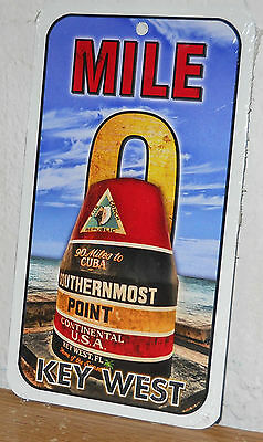 """Key West Mile 0  Metal Sign """" Southernmost Point """"  New   8"""" x 4.5"""""""