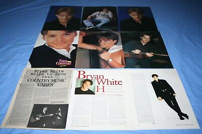 HUGE LOT of 15 BRYAN WHITE Magazine Article Photo Clippings