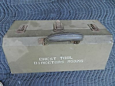 Wwii Artillery*kennedy*directors M5/m6 Tool Chest~Box Metal Tray& Leather Handle