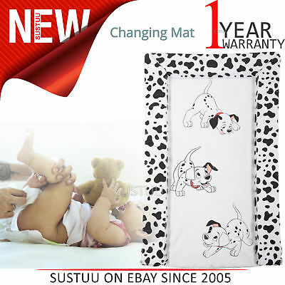101 Dalmatians Baby's Nappy Changing Mat│WaterProof+Comfortable+Easy To Wipe│0m+