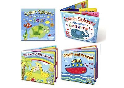 Baby bath time bath book set floating development colourful fun first words ABC