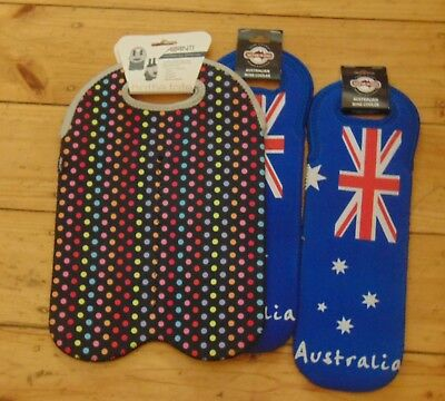 4 Bottle Wine Cooler Carrier Tote Bag Avani Australian Flag Aussie Neophane
